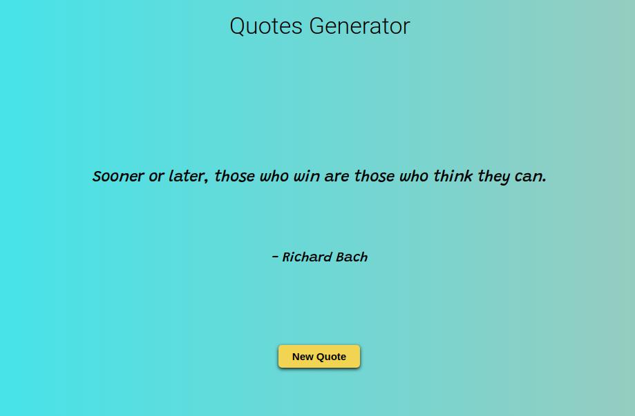Quotes Generator demo